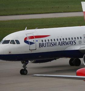"""""""British Airways"""" skelbia, kad dalį jos skrydžių sutrikdė """"techninė problema"""""""