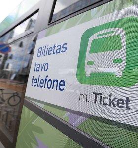 Vilniuje pristatytas bilietas išmaniajame telefone