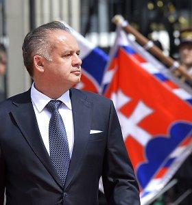 Slovakijos prezidentas A.Kiska nesieks antros kadencijos per kitąmet vyksiančius rinkimus