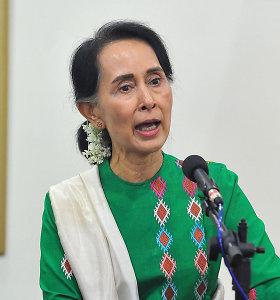 """""""Amnesty International"""" atėmė iš Aung San Suu Kyi savo aukščiausią apdovanojimą"""