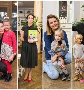 Aktorės Kristinos Savickytės naujos knygos pristatyme – žinomos mamos su vaikais