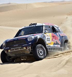 """""""Abu Dhabi Desert Challenge"""" dykumų lenktynėse anuliuotas nugalėtojo N.Al-Attiyah rezultatas"""