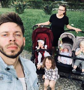 """Gintarė Valaitytė ir Jurgis Brūzga su savo vaikais """"Eurovziijoje"""""""