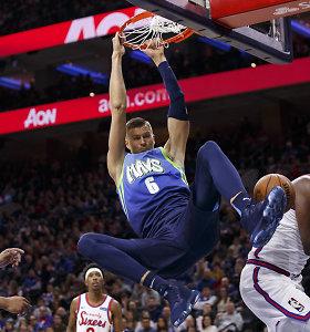 Europiečių siautulys NBA – K.Porzingio karjeros rekordas ir N.Jokičiaus trigubas dublis