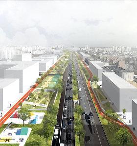Nauja Vilniaus ambicija: kaip ateityje atrodys viena ilgiausių sostinės gatvių