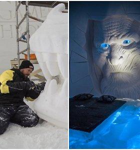 """Įspūdingą """"Sostų karų"""" ledo viešbutį Laplandijoje dekoravo ir lietuvis A.Petkus"""