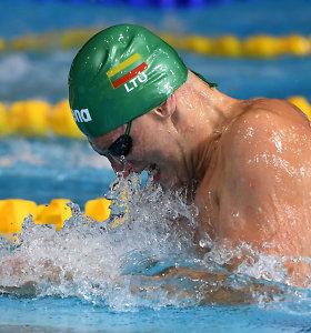 Pasaulio plaukimo taurė: D.Rapšys – dar viename finale, G.Titeniui iki finalo pritrūko milisekundės