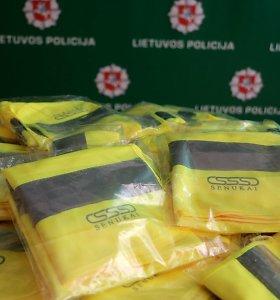 Moksleiviams Kauno policija išdalins 1 000 gyvybę saugančių liemenių