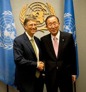 Ban Ki-moonas ir B.Gatesas vadovaus tarptautinei komisijai dėl klimato kaitos