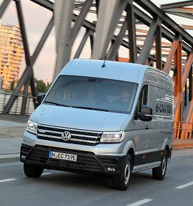 """Lietuvą pasiekė pirmasis elektrinis furgonas """"Volkswagen e-Crafter"""""""