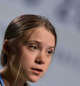 """G.Thunberg teigia, kad jos reikalavimai dėl klimato Davose """"visiškai ignoruojami"""""""