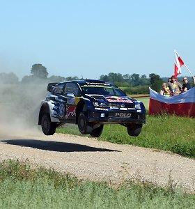 Lenkijoje vykstančiame WRC ralyje pirmauja Sebastienas Ogier