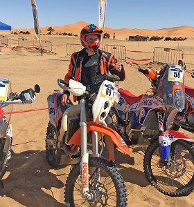 Lietuvos motociklininkas varžysis dėl teisės dalyvauti Dakaro ralyje