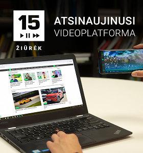 Videoplatforma 15min ŽIŪRĖK: nuo šiol originalų videoturinį bus galima žiūrėti patogiau