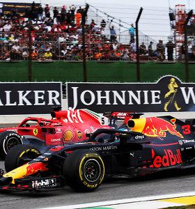 """Pasiruošimas kitų metų """"Formulės 1"""" sezonui: S.Vettelis paliks """"Ferrari"""", C.Sainzas – """"McLaren"""""""