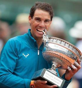 """""""Roland Garros"""": atvykstantis nugalėtojų kvartetas, burtai ir faktai"""