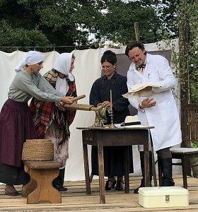 Musteikos kaimo mokyklos šimtmetis įamžintas unikaliu spektakliu