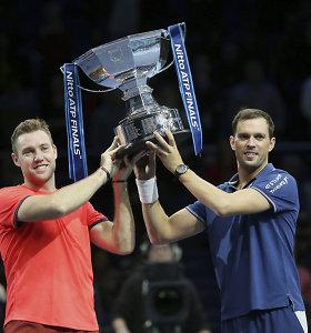 ATP finalo dvejetų čempionai – vos pusmetį kartu žaidžiantys J.Sockas ir M.Bryanas