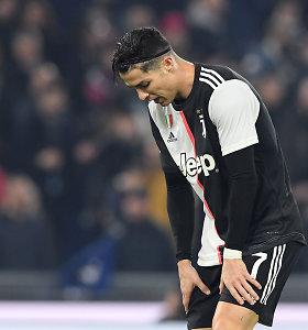 """Dešimtyje finišavęs """"Juventus"""" patyrė pralaimėjimą Italijoje"""