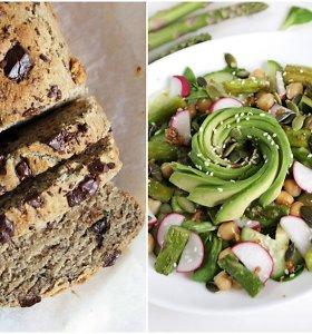 auGalingas pirmadienis: salotos su avinžirniais bei smidrais ir bananų duona su šokoladu