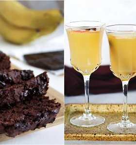 auGalingas pirmadienis: šokoladinė bananų duona ir obuolių sulčių gėrimas