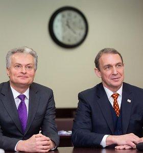 Prezidento rinkimų politinės kampanijos dalyviais registravosi G.Nausėda ir A.Juozaitis