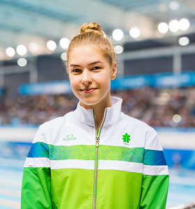 K.Teterevkova Europos jaunimo plaukimo čempionatą pradėjo sidabro medaliu