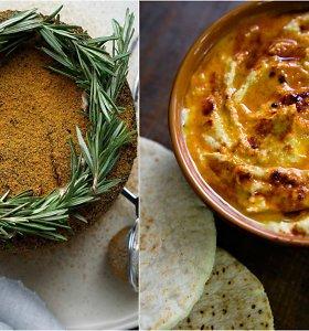 auGalingas pirmadienis: humusas su rūkyta paprika ir šokoladinis lazdyno riešutų pyragas