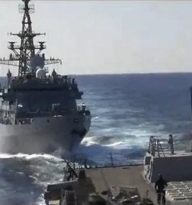 Pentagonas apkaltino Rusijos karinį laivą agresyviaisveiksmais