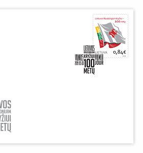 """Išleidžiamas pašto ženklas """"Lietuvos Raudonajam Kryžiui – 100 metų"""""""