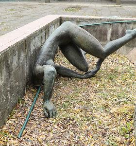 Pavyko rasti Kaune suniokotos skulptūros galvą, bet vandalai dar nenustatyti