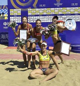Latvijos paplūdimio tinklininkai Kinijoje iškovojo olimpinius kelialapius