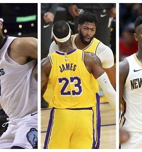 """NBA startas: atidėtas planas """"Zionas"""", kova dėl Los Andželo ir trijų lietuvių galimybės"""
