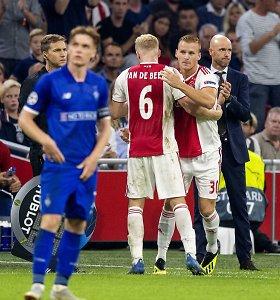 """Čempionų lyga: """"Ajax"""" paguldė ant menčių Kijevo """"Dinamo"""" futbolininkus"""