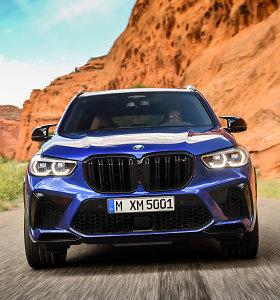 """Naujieji visureigiai BMW X5 M ir BMW X6 M: bus ir galingoji """"Competition"""" versija"""
