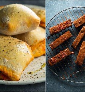 Skanus duetas, tinkamas pasiimti su savimi: perlenktos mini picos ir saldūs batonėliai