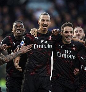 """Ilgai netruko: """"Serie A"""" pirmenybėse – pirmasis Zlatano Ibrahimovičiaus įvartis"""