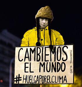 Vykstant JT klimato deryboms Madride įvyko G.Thunberg įkvėptademonstracija