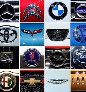 Testas: ar pažinsite šiuos 12 automobilių gamintojų iš jų logotipų?