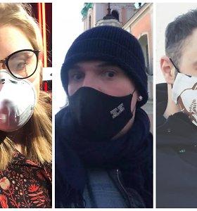 Žinomi šalies žmonės kviečia dėvėti kaukes: pavyzdį rodo ir šou verslas, ir dizaineriai