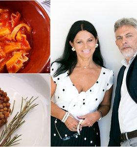 """Vakarienė pas Jurgą ir Paulių. Norisi į Romą? Gaminate """"trippa"""", lęšius su daržovėmis ir jūs – jau Romoje!"""