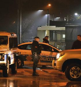 Juodkalnijos sostinėje prie JAV ambasados driokstelėjo sprogimas: susisprogdino granatą sviedęs vyras