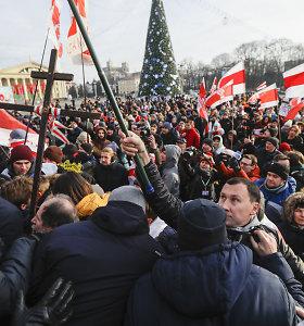 Baltarusijos opozicija surengė mitingą Minske prieš susivienijimą su Rusija