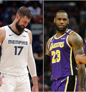 NBA ateityje: Los Andželo milžinų dominavimas ir J.Valančiūno ekipos šuolis