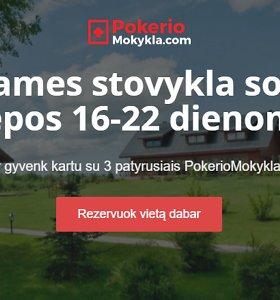 """""""PokerioMokykla.com"""" liepą surengs grynųjų pinigų žaidėjams skirtą stovyklą"""