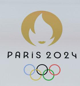 Paryžiuje pristatytas olimpinių žaidynių ženklas, vaizduojantis auksinę Marianą