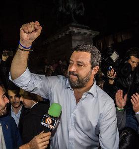 """Italijos populistų lyderio M.Salvini """"Lyga"""" patyrė nesėkmę regioniniuose rinkimuose"""