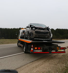 "Minsko plente susidūrė ""Kia"" ir ""Subaru"""