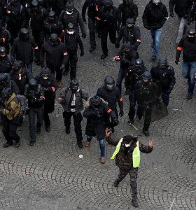 Paryžiaus policija rengiasi tolesniems protestams