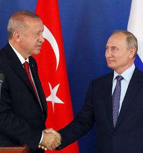 Vladimiras Putinas pakvietė Turkijos prezidentą greitu laiku atvykti į Rusiją